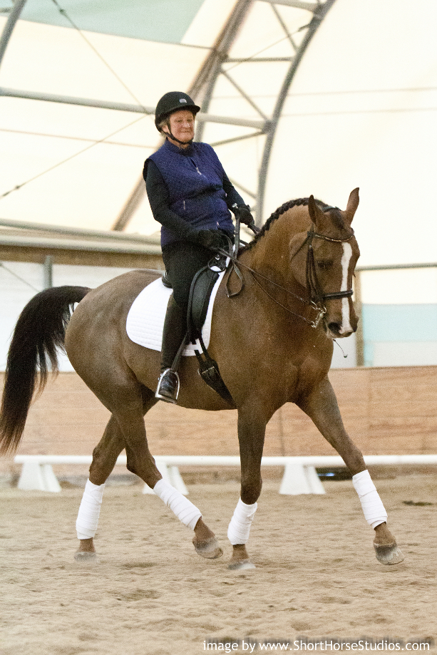 Tracey Dikkers riding Rholacion