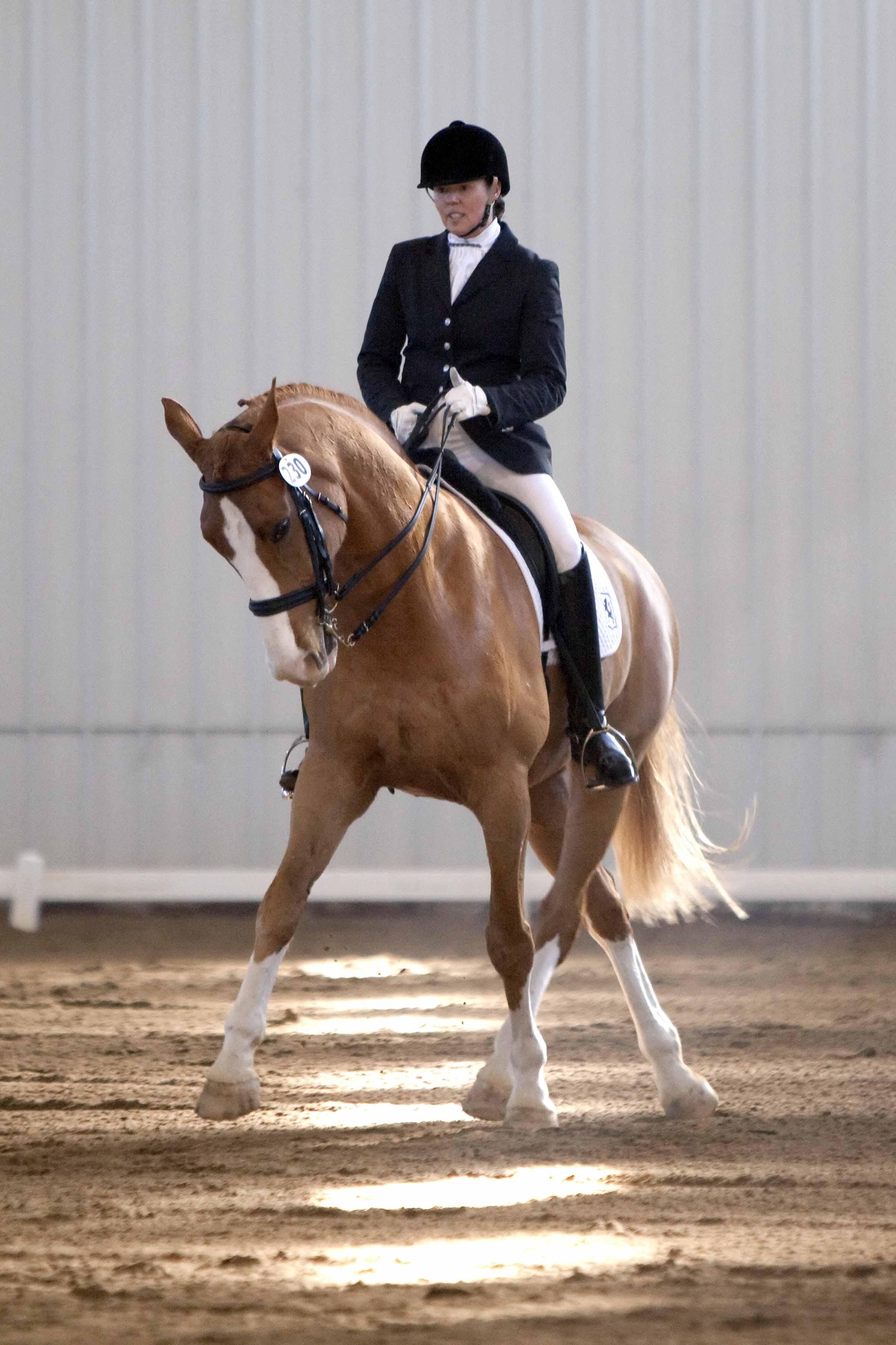 Tracy Uihlein riding Toblerone