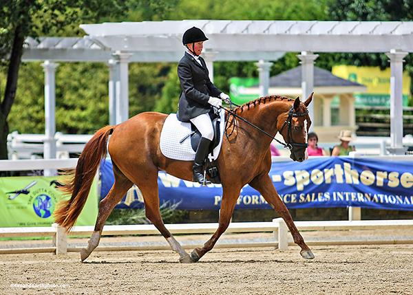 Caryn Vesperman riding Rapazzini